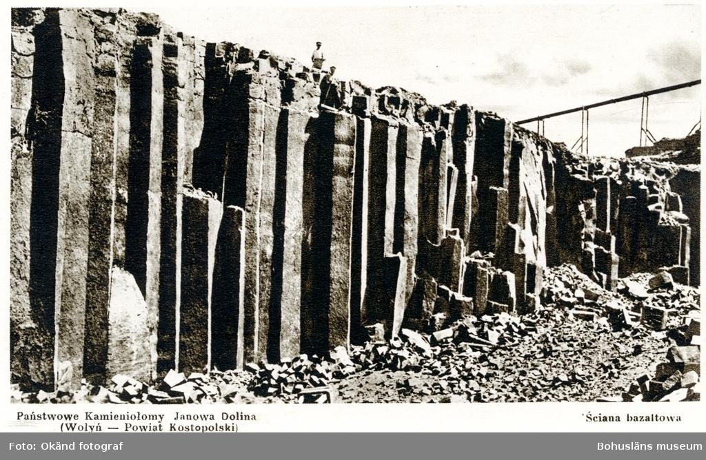 Statliga stenbrottet i Janowa Dolina, Polen(nuvarande Ukriaina) där basalt bröts