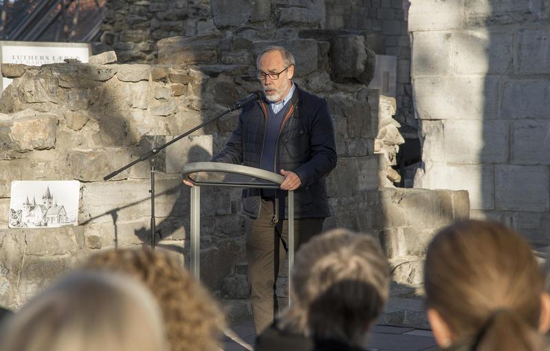 Avdelingsdirektør ved anno - Museene i Hedmark avdeling Domkirkeodden, Magne Rugsveen, ønsket velkommen.