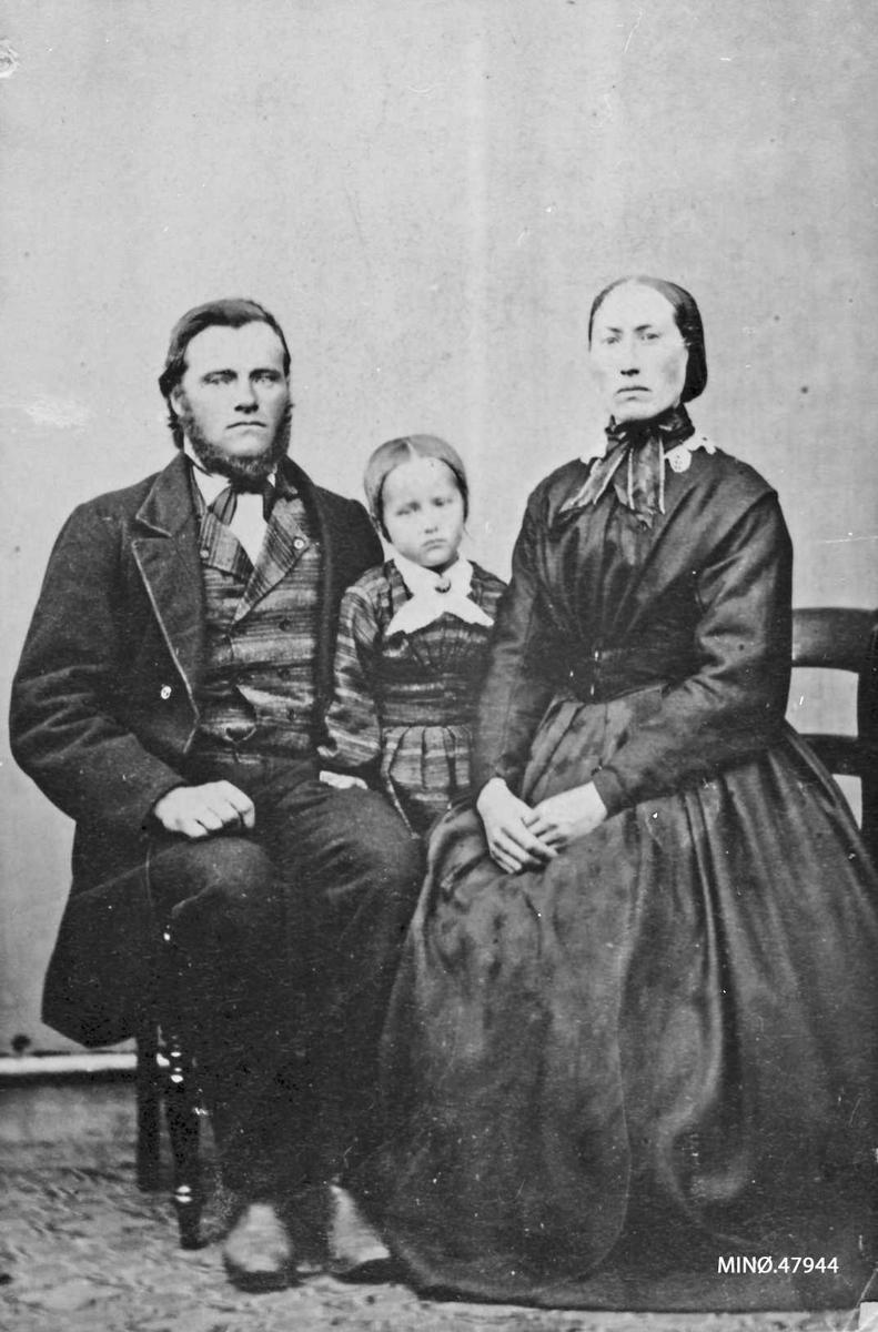 Ola Jacobsen f. 1834, Olivia Olsdatter f. 1839 (fra Frisvoll), dro til USA i 1878.