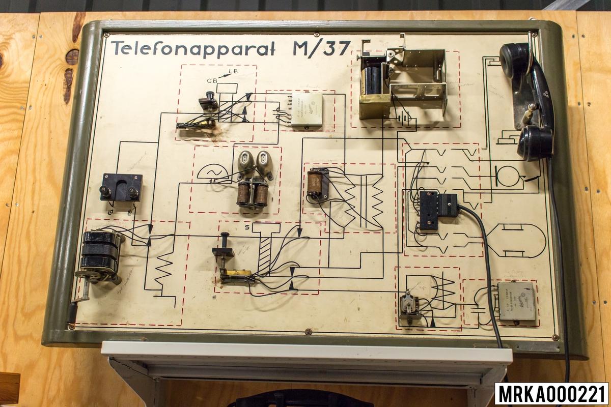 Telefonapparat m/37 utbildningsmatriel