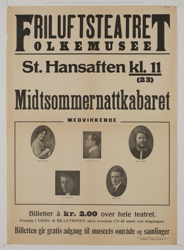 Teaterplakat NF.34668-078 (Foto/Photo)