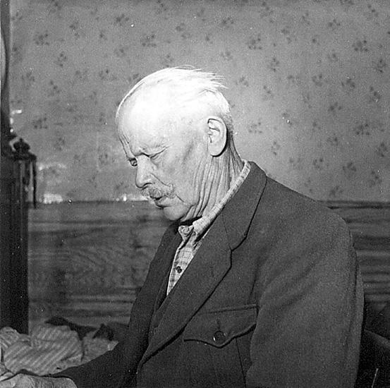 Nittaho-Jussi, en av de sista finsktalande från Värmlands finnskogar.