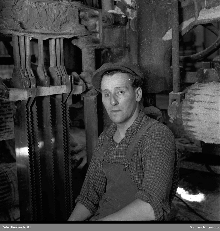 Reinhold Sundin, arbetare på Skönviks sågverk.