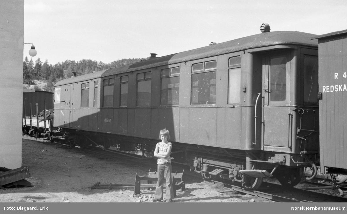 Personvogn litra CFo nr. 1 fra Sulitjelmabanen, tidligere NSB, på Grovane