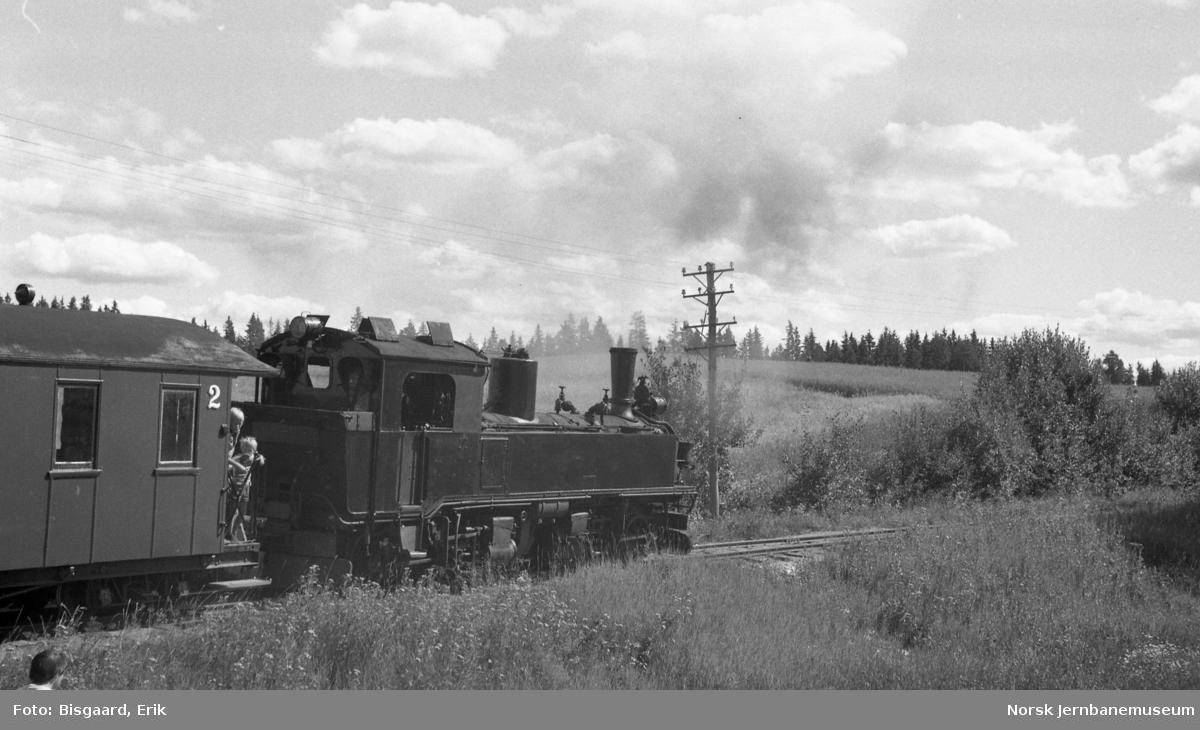 Damplokomotivet 99 1594 fra Deutsche Reichbahn på Urskog-Hølandsbanen