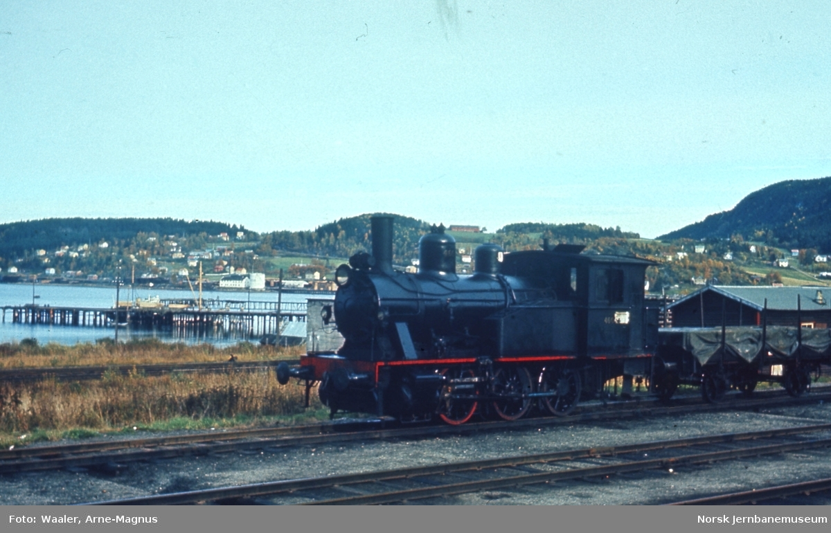 Damplokomotiv type 23b nr. 460 på Hommelvik stasjon