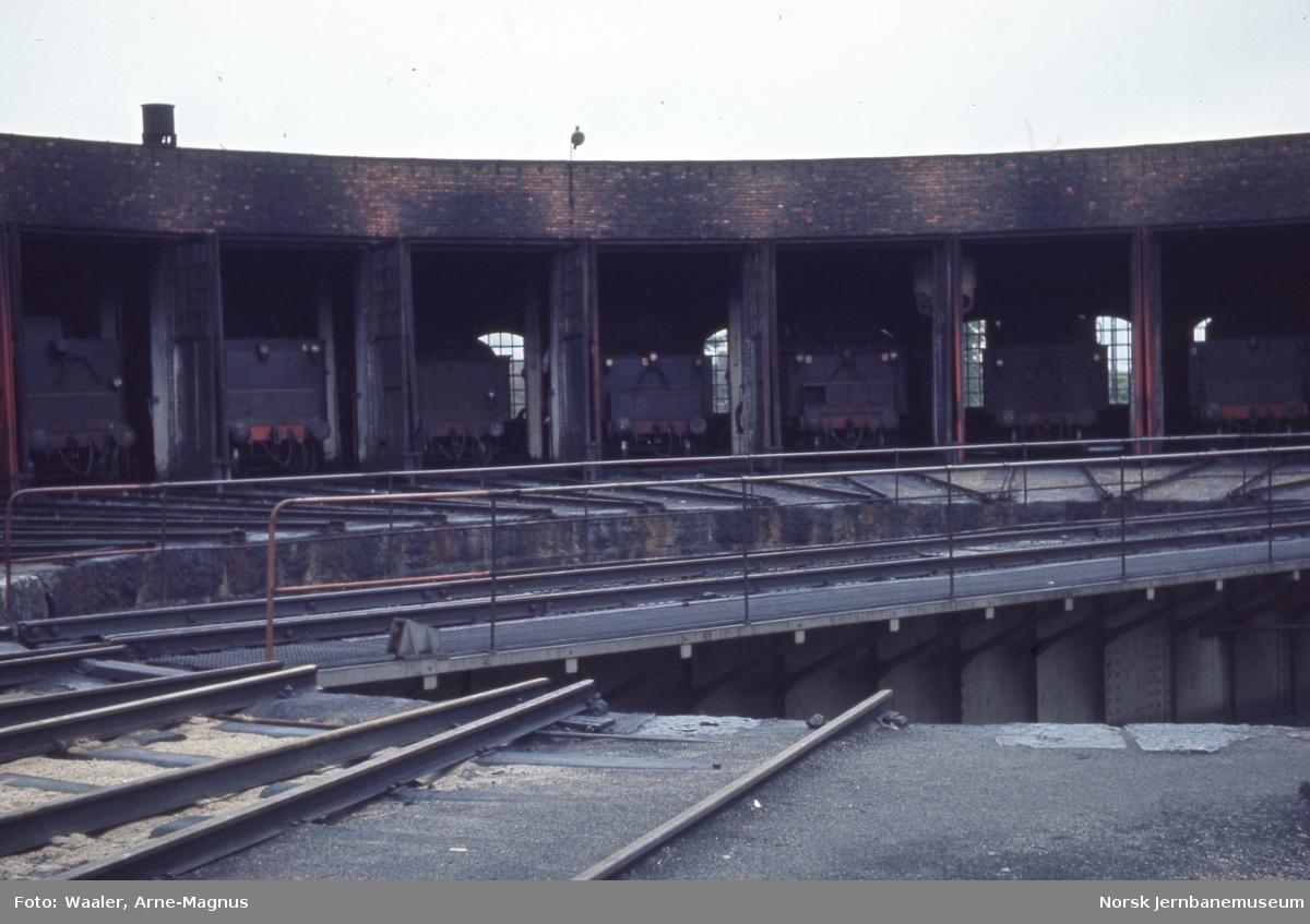 Svingskiven og lokomotivstallen på Hamar stasjon