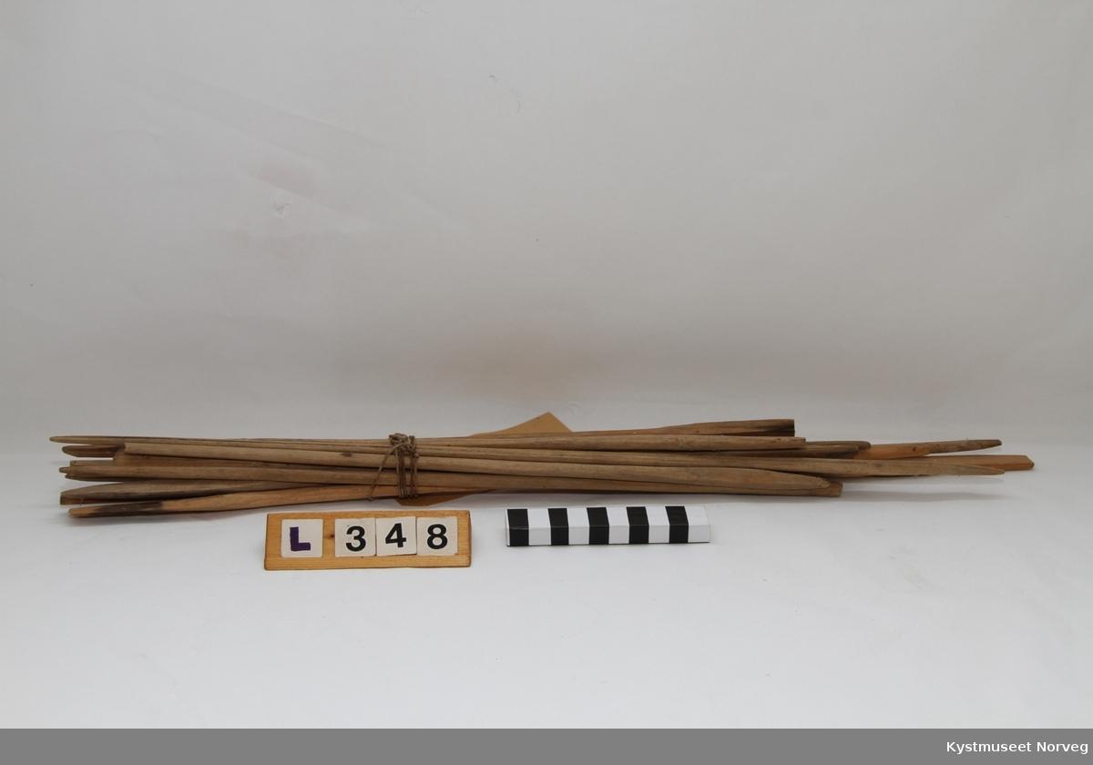 Trepinner bruk i forbindelse med støping av talglys