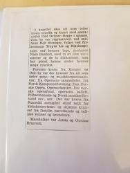 avisartikkel om bisettelsen (Foto/Photo)