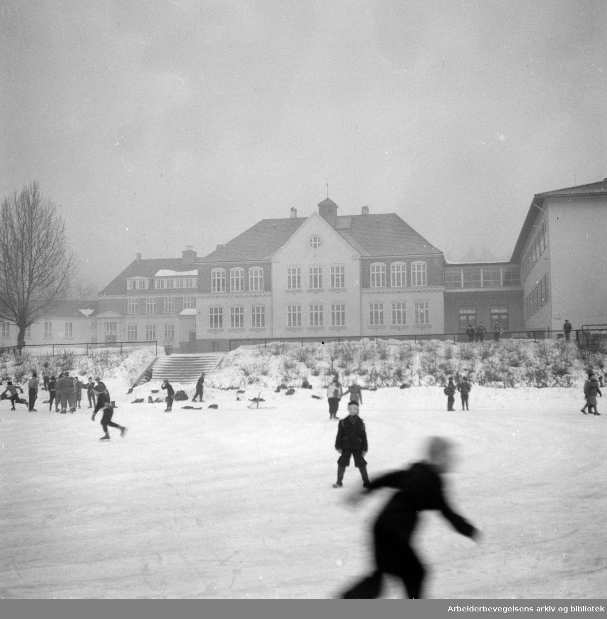 Tåsen skole. Januar 1953