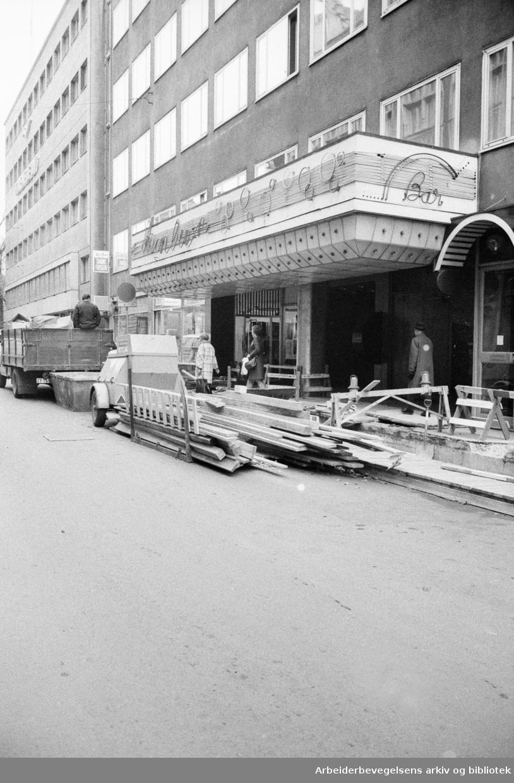 Telle nattklubb. November 1972