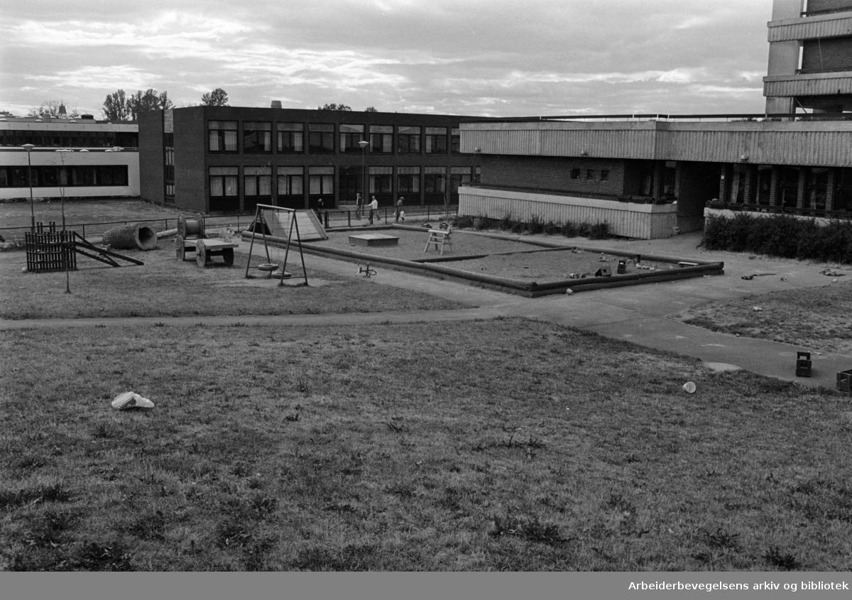 Tveita barnehage. September 1976
