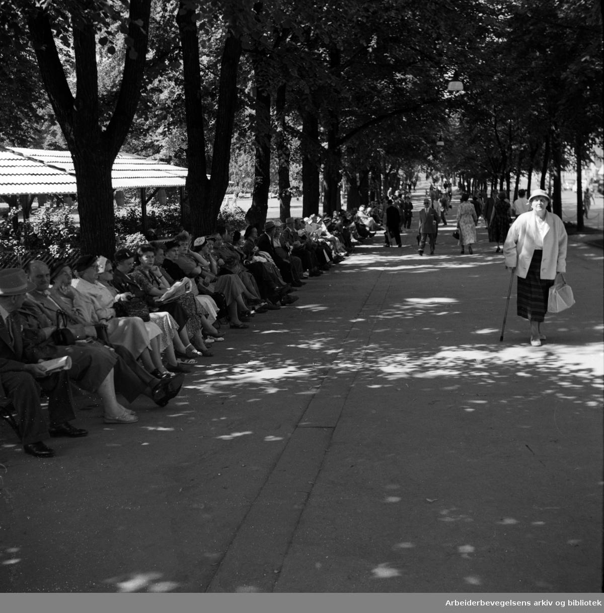 Studenterlunden. 1950 årene.