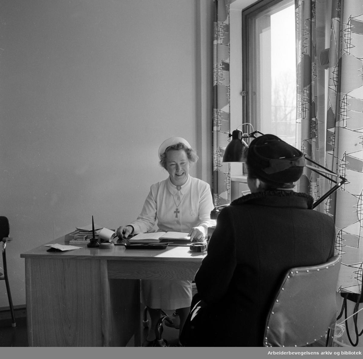 Ullevål sykehus. Kirurgisk avdeling. Mars 1958.
