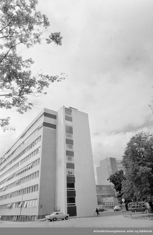 Ullevål sykehus. Midtblokka. Juli 1974