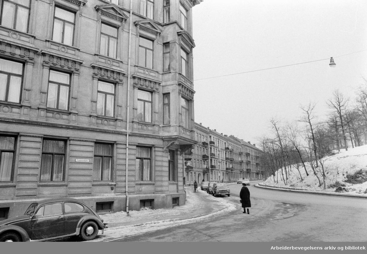 Ullevålsveien 51 - 61. Mars 1972