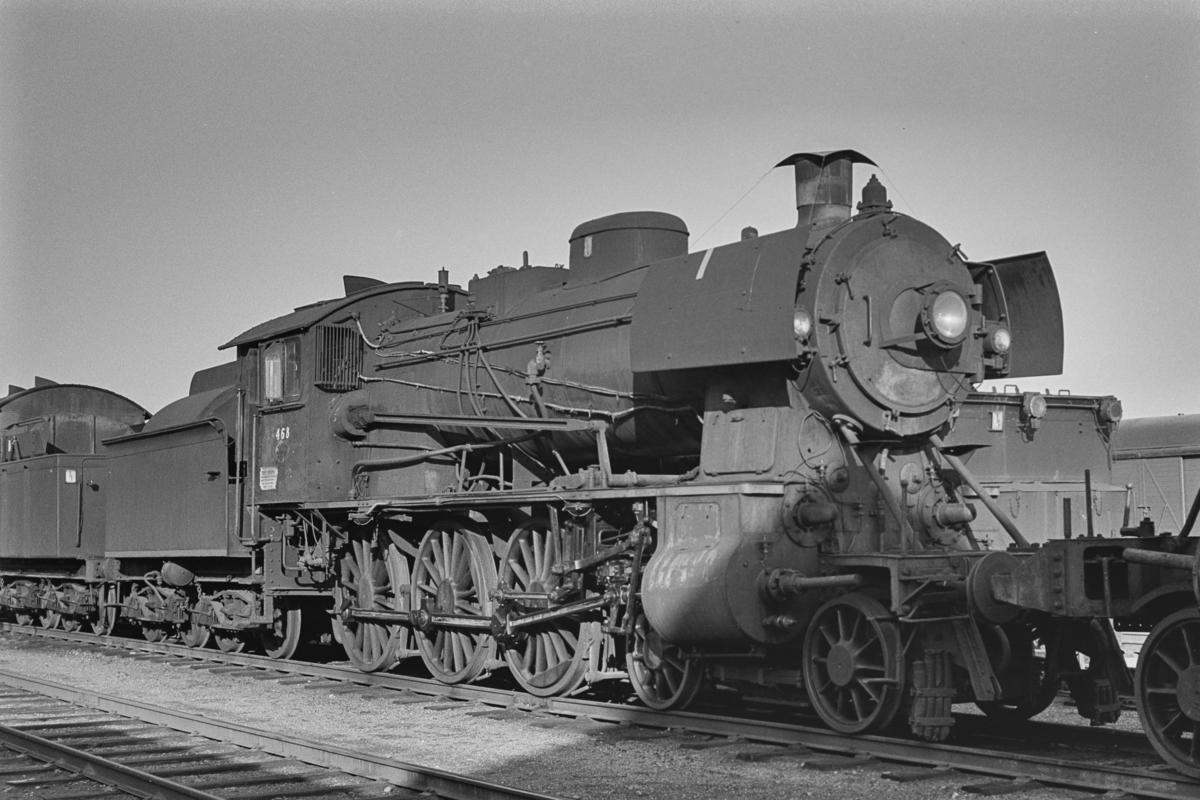 Utrangert damplokomotiv type 30b nr. 468 på Marienborg Verksted.