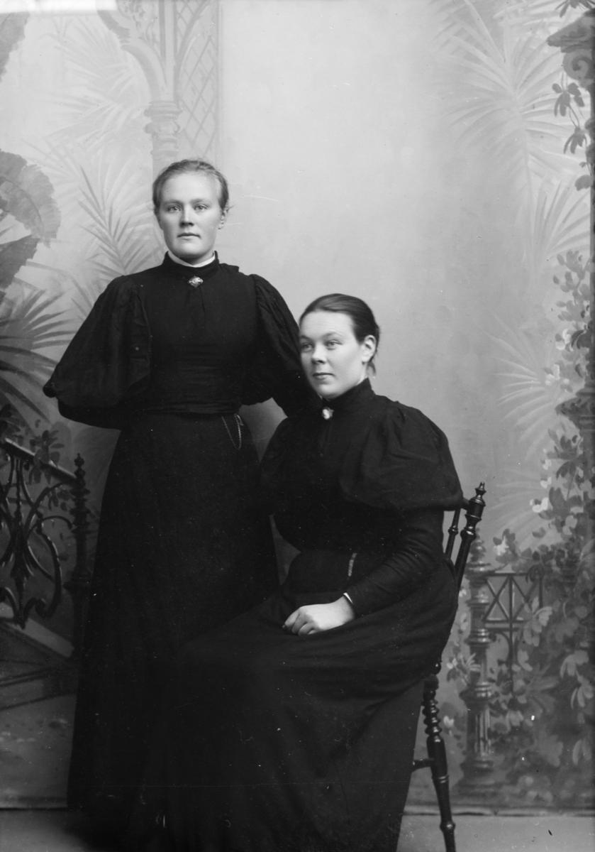 Portrett av søstrene Marit og Karen Bergum.