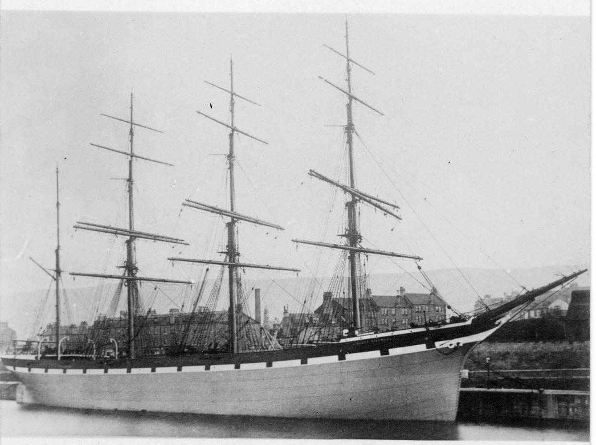 Fyrmastade järnbarken Åland ägdes av Gustaf Erikson 1913-1914.