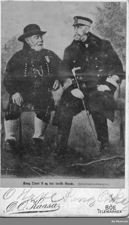 Portrett av O. Hovi og Kong Oscar