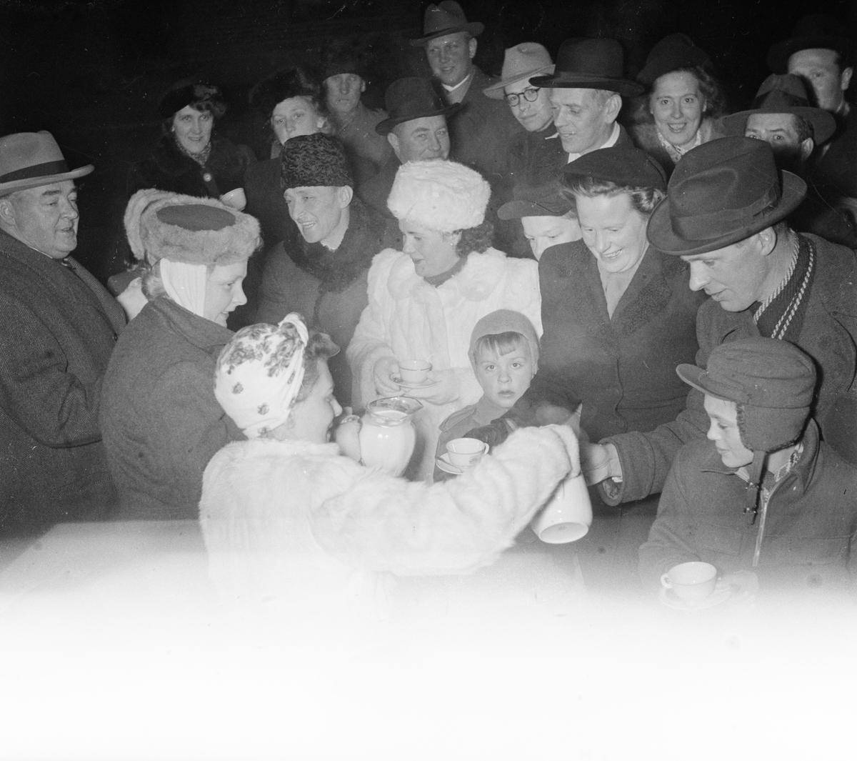 Firande av inkorporering, Sigtuna, Uppland, januari 1948