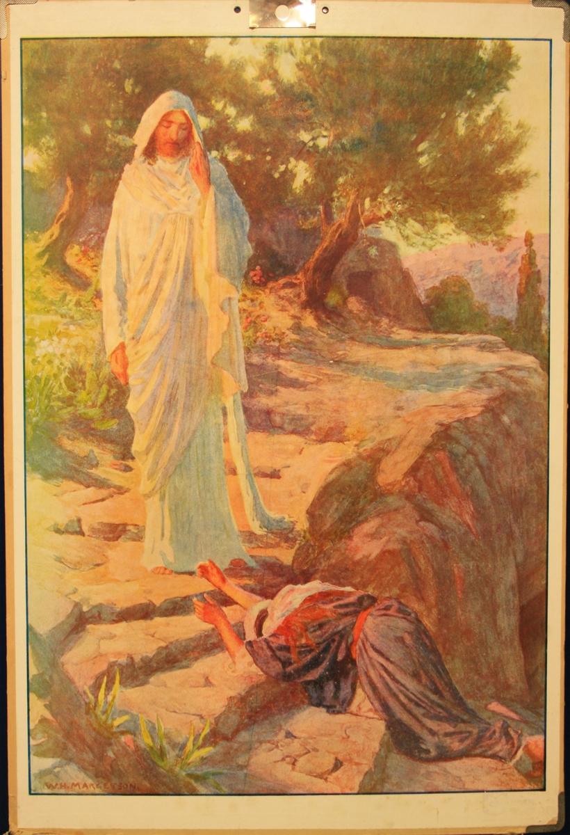Jesus møter ein tiggar.