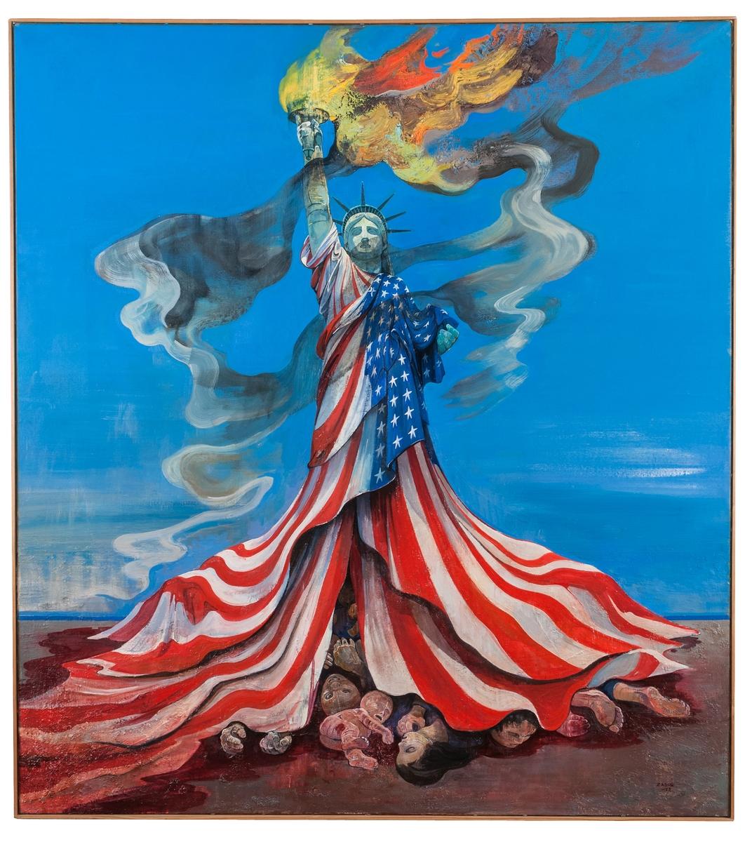 """Olja på duk, """"Lady be Good"""", Jaques Zadig, 1972."""