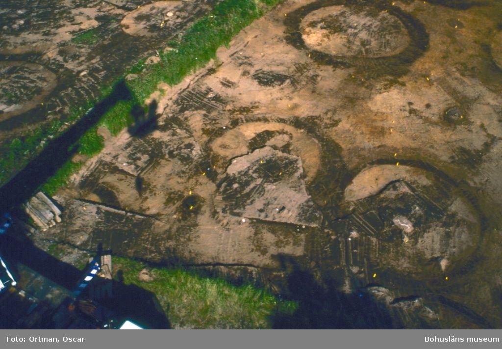 Norum 159. A 149 , skepssättningi förgrunden. Helena Eriksson gräver meterrutor i bakgrunden Fotograferat från sydost
