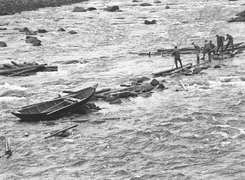 Flottare invid Rehnbron 1952.