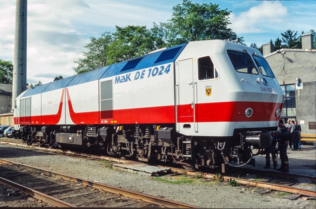 MaK DE 1024 240.003-4, et tysk diesellokomotiv som var på prøve hos NSB.