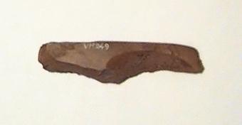 Tjocknackig yxa, fragment av. Yxan har kluvits på längden.