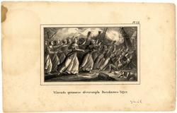 Wärends quinnorne öfverrumpla Danskarnes läger [Litografi]