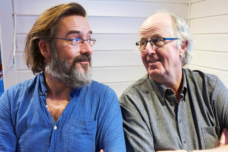 Espen Leite (fv) og Jørn Simen Øverli holder konsert på Rockheim 29. april kl. 19.30.