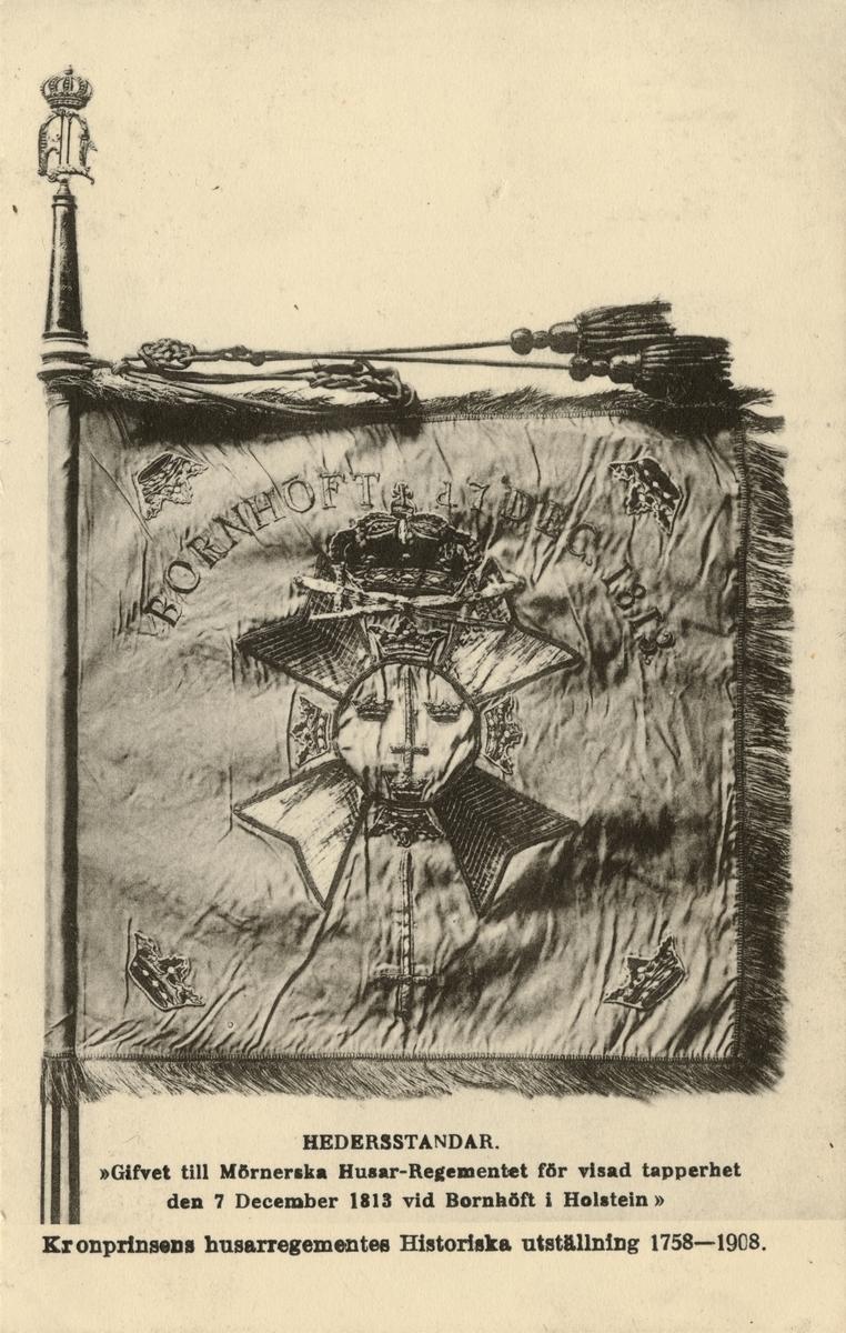 Hedersstandar tilldelat Mörnerska husarregementet efter slaget vid Bornhöft 1813.