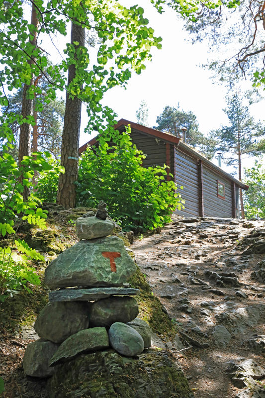 DNT-hytta Hovinkoia, Norsk Folkemuseum. Foto: Astrid Santa, Norsk Folkemuseum.