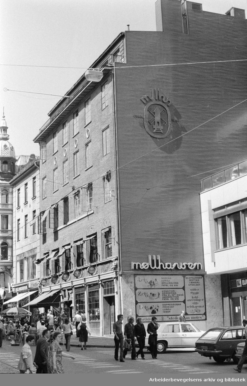 Karl Johans gate. Møllhausen. Juni 1973