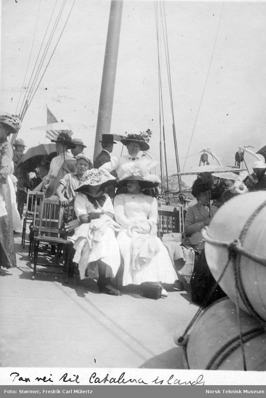 Fergeturen til Catalina Island, California 1915