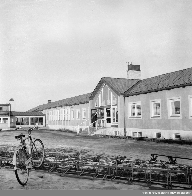 Ekeberg skole. Desember 1956