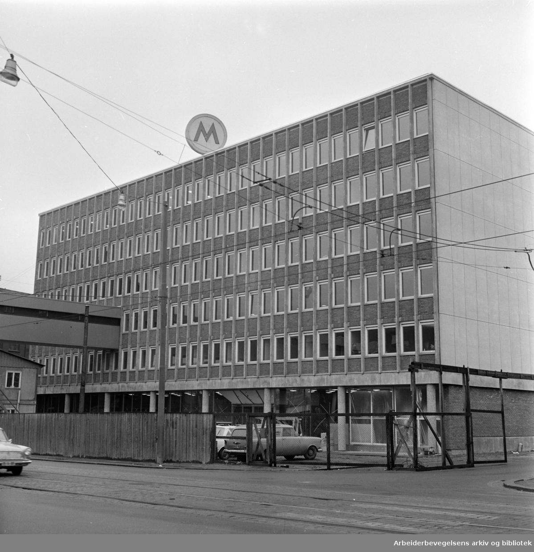 Fellesmeieriets nybygg. Eksteriør. November 1964