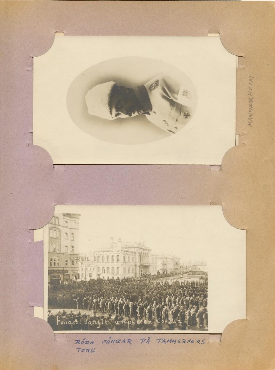 "Text i fotoalbum: ""Mannerheim""."
