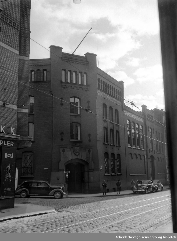 Dampsentralen i Rosenkrantzgt. Oktober 1955