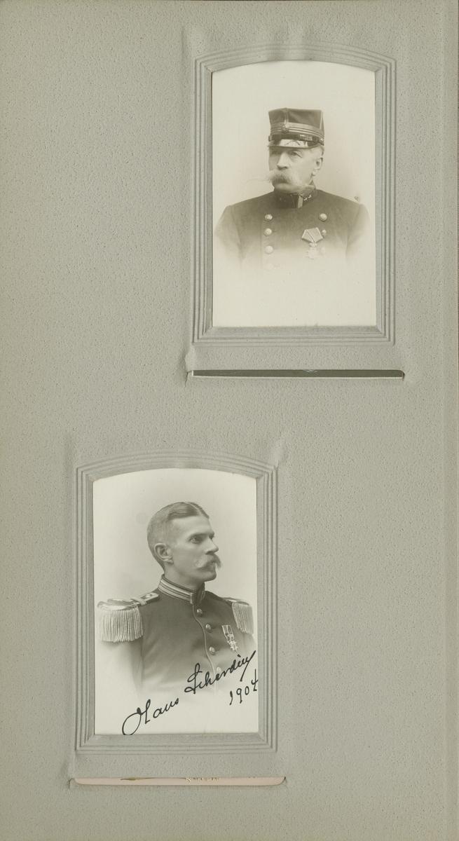 Porträtt av Olaus Laurentius Scherdin, major vid Västerbottens regemente I 20.  Se även bild AMA.0008611, AMA.0009458 och AMA.0021738.