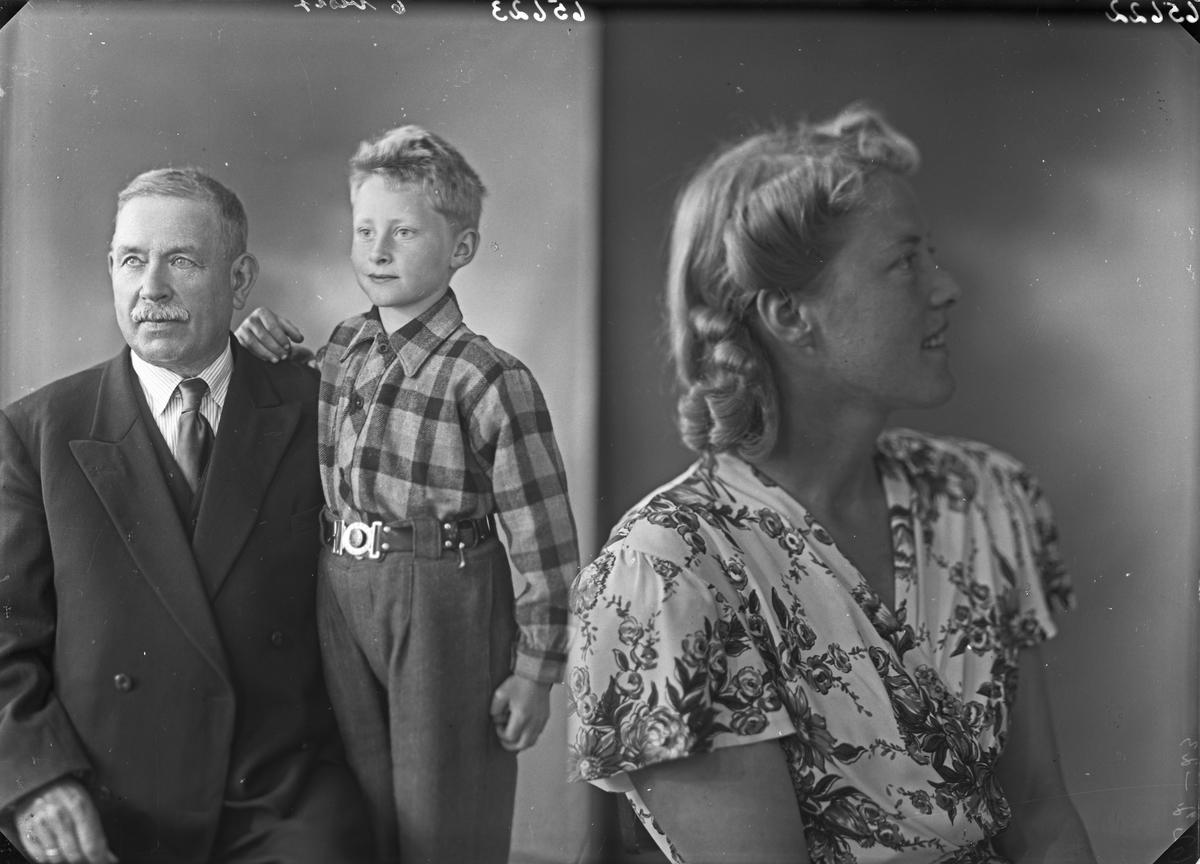 Portrett. Eldre mann og ung gutt. Far-far med barnebarn. Bestilt av Johan Aga. Aga. Hardanger.