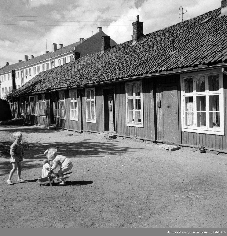 Biermannsgården (Maridalsveien 78). Juni 1950