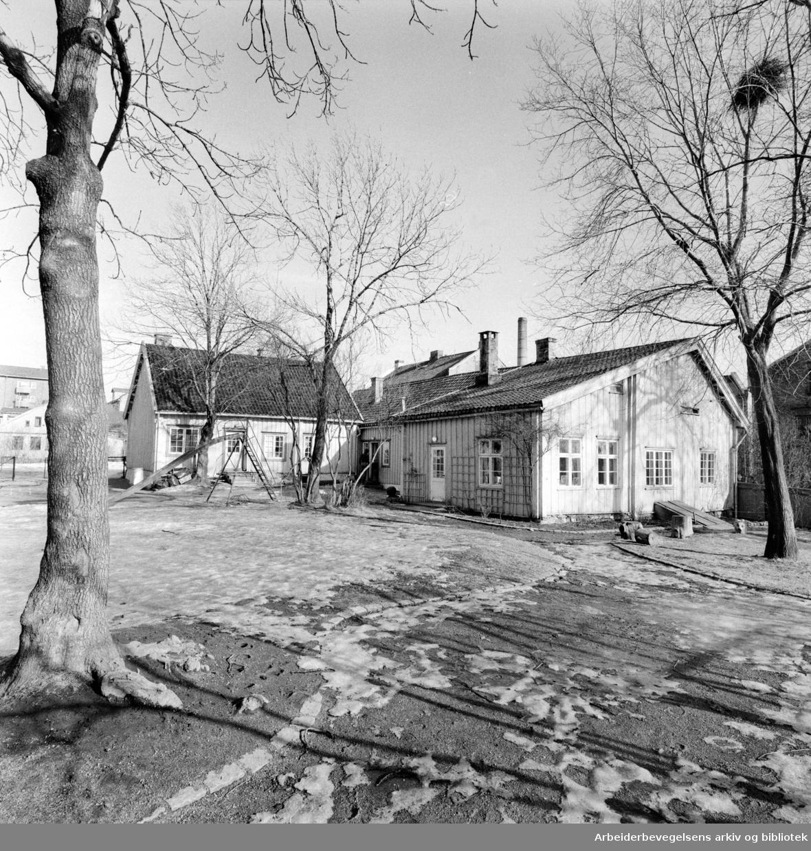 Biermannsgården (Maridalsveien 78). Mars 1976