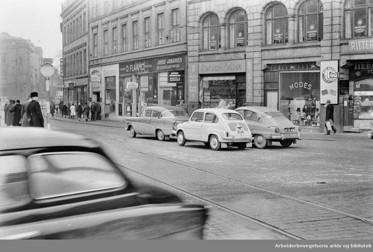 Arne Garborgs Plass. Februar 1961