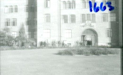 Regementets Dag 1956, A 6, Jönköping. Kasern från utsidan.