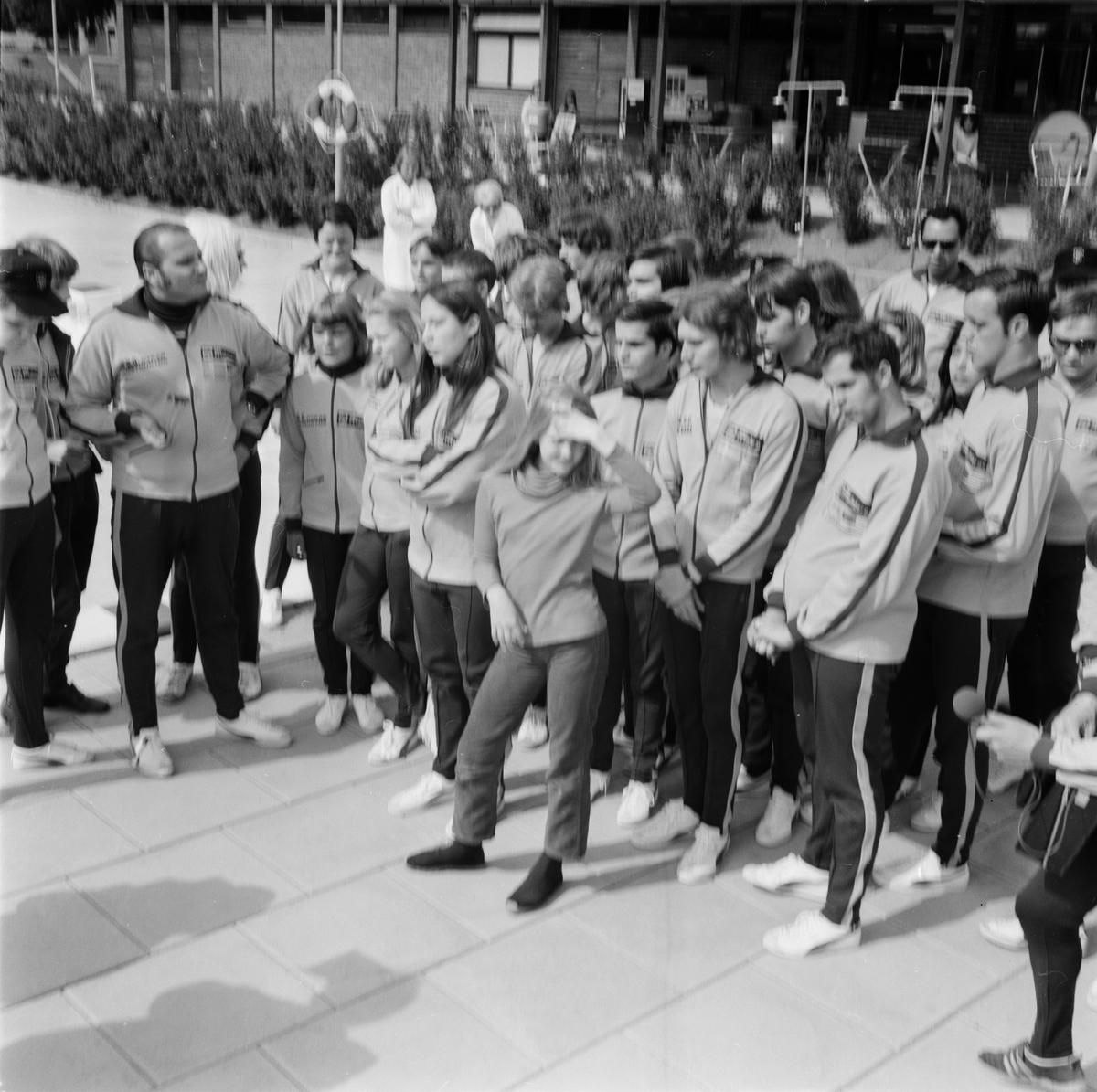 Amerikafrämmande på Vendelbadet i Örbyhus, Uppland, juni 1971