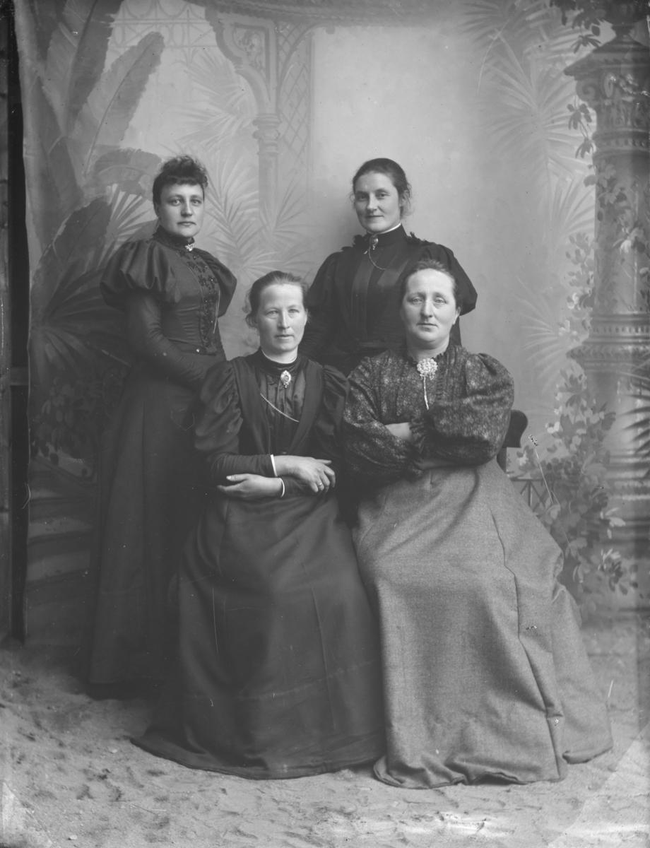 Fru Loftsgaard's gruppe.  Gruppebilde, kvinner.