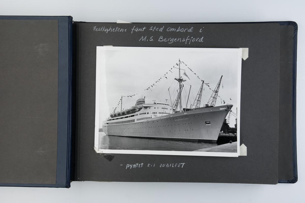 Album med fotografier fra NALs 50-års jubileum ombord i M/S 'Bergensfjord'